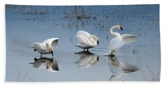 Dance Of The Trumpeters Beach Towel