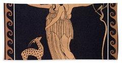 Ballet Scene With Tamara Karsavina Beach Towel