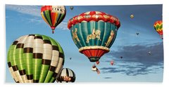 Beach Towel featuring the photograph Balloons Away by Dave Files