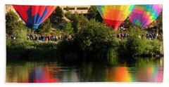 Balloons Over Bend Oregon Beach Sheet by Kevin Desrosiers