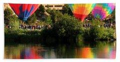 Balloons Over Bend Oregon Beach Sheet