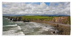 Ballydowane Cove On The Copper Coast Beach Towel