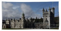 Balmoral Castle In A Closeup Panorama Beach Towel