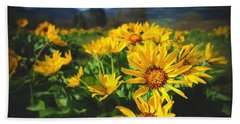 Balsamroot Of The Gorge Beach Towel