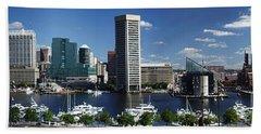 Baltimore Inner Harbor Panorama Beach Towel
