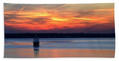 Baltimore Light At Gibson Island Beach Towel