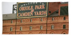 Baltimore Orioles Park At Camden Yards Beach Towel