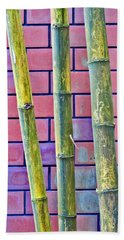Bamboo And Brick Beach Sheet by Ethna Gillespie