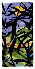 Bamboo Beach Towel by Christine Fournier