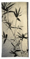 Bamboo Leaves Beach Towel