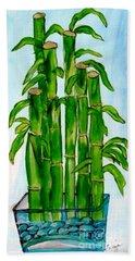 Bamboo On The Rocks Beach Towel