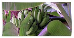 Banana Leaf Curtain Beach Towel