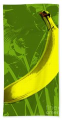 Banana Pop Art Beach Towel by Jean luc Comperat