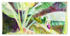 Beach Towel featuring the painting Banana Tree by C Sitton