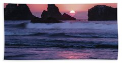 Bandon Beach Sunset Beach Towel
