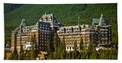 Banff Springs Hotel Beach Towel