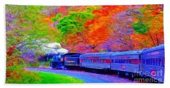 Bang Bang Choo Choo Train-a Dreamy Version Collection Beach Towel
