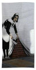 Banksy Maid Beach Towel
