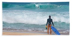 Banzai Pipeline Aqua Dream Beach Sheet