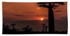 Baobab Sunrise Beach Towel