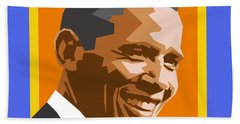Barack Beach Towel by Douglas Simonson