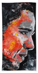 Barack Obama Beach Towel by Richard Day