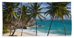 Beach Towel featuring the photograph Barbados Beach by Brian Jannsen