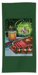 Barbeque Meat And A Mug Of Beer Beach Towel