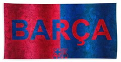 Barcelona Football Club Poster Beach Sheet