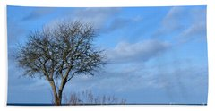 Bare Single Tree Beach Towel
