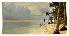 Barefoot On The Beach Beach Towel