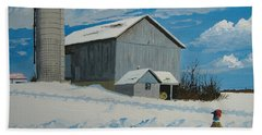 Barn And Pheasant Beach Sheet by Norm Starks