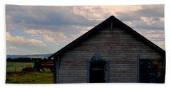 Barn And Tractor Beach Sheet by Matt Harang