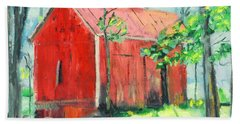 Barn At Walpack Beach Towel