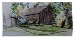 Old Barn At Wason Pond Beach Towel