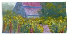 Barn In Vineyard Beach Towel