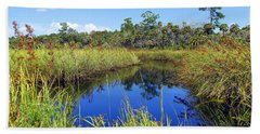 Barnett Creek In August Beach Towel