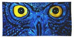 Beach Towel featuring the painting Barney Black Light View by Lisa Brandel