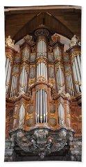 Baroque Grand Organ In Oude Kerk In Amsterdam Beach Towel