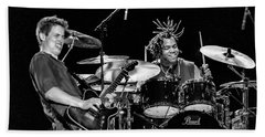 Barry Alexander Drumming For Johnny Lang Beach Towel