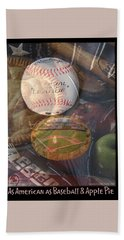 Beach Sheet featuring the photograph Baseball And Apple Pie - Photo Collage by Brooks Garten Hauschild