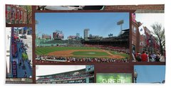 Baseball Collage Beach Towel