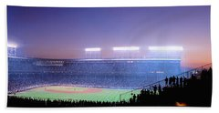 Baseball, Cubs, Chicago, Illinois, Usa Beach Sheet by Panoramic Images