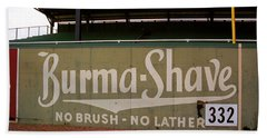 Baseball Field Burma Shave Sign Beach Towel