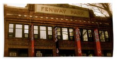 Baseballs Classic  V Bostons Fenway Park Beach Towel by Iconic Images Art Gallery David Pucciarelli
