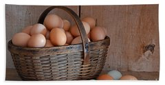Basket Full Of Eggs Beach Towel