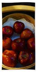 Basket Of Red Apples Beach Towel