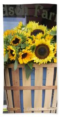 Beach Towel featuring the photograph Basket Of Sunshine by Chrisann Ellis