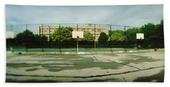 Basketball Court In A Public Park Beach Towel by Panoramic Images