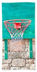 Basketball Net Beach Towel by Tom Gowanlock